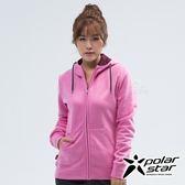 PolarStar 女 刷毛保暖外套『紫紅』 P18206 戶外 休閒 登山 露營 保暖 禦寒 防風 連帽