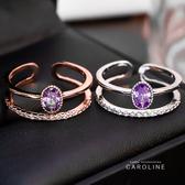 《Caroline》韓國熱賣造型時尚絢麗閃亮動人.優雅性感戒指72166