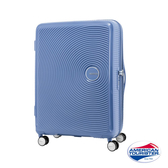 *C羅代言款* AT美國旅行者 25吋Curio立體唱盤刻紋硬殼可擴充TSA行李箱(單寧藍)