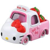 〔小禮堂〕Hello Kitty TOMICA小汽車蘋果貨車《粉白.NO.152》公仔.玩具.模型 4904810-39913