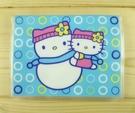 【震撼精品百貨】Hello Kitty 凱蒂貓~KITTY卡片套-藍雪人