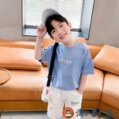 男童短袖T恤印花夏裝兒童上衣半袖體恤夏季時尚【淘夢屋】