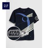 Gap男童 星球大戰系列印花短袖圓領T恤 441243-海藍色