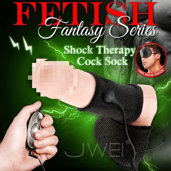 美國原裝進口PIPEDREAM.Fantasy Series系列 Shock Therapy Cock Sock 電波脈衝延時鎖精老二襪套自慰器