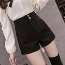 西裝短褲 黑色打底短褲女春季2021新款外穿高腰百搭a字休閒西裝褲配靴子穿 韓國時尚週 免運