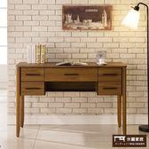【這家子家居】北歐 柚木色 書桌 電腦桌 寫字桌 工作桌 書桌 辦公桌 (120CM)【C0523】