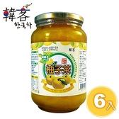 A10391   【韓客】蜂蜜柚子茶團購組2000g/瓶x6入