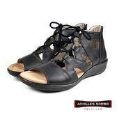 【Achilles SORBO】時尚休閒綁帶羅馬涼鞋  黑色(SRL3130-BL)