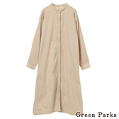 「Hot item」燈芯絨開襟連身洋裝 - Green Parks