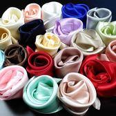 口袋巾新品國外送禮絲綢男士西裝口袋巾桑蠶絲純色小手絹素色真絲手帕女 至簡元素