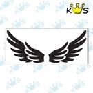 【收藏天地】防水防曬*安全帽 汽機車 浮雕貼紙 -雙層翅膀 (大) (兩色)