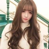 假髮 韓國假髮女生空氣劉海長卷髮蓬松梨花大波浪自然逼真透氣時尚頭套-凡屋