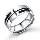 【5折超值價】時尚潮流美式復古十字造型男款鈦鋼戒指