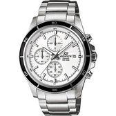 【CASIO 卡西歐】EDIFICE 標準賽車手錶-銀 EFR-526D-7AVUDF