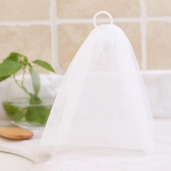 【DI380】起泡網附勾環 發泡網 洗臉起泡網狀袋 綿密泡泡 深層清潔 EZGO商城
