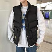 男士背心 冬季新款休閒背心背心男士寬鬆無袖外套韓版潮流男裝 莎瓦迪卡