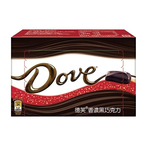 德芙香濃黑巧克力108g【愛買】