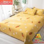 單件床罩雙人床夏季被單春秋單人兒童磨毛1.8水洗棉1.5米