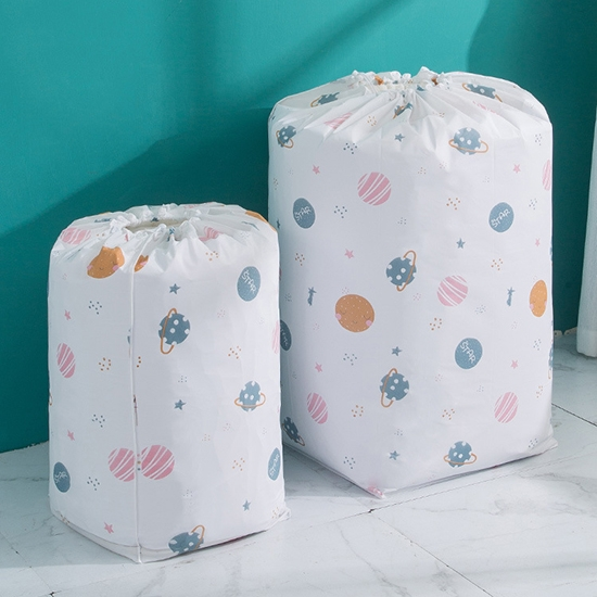 棉被袋 收納袋 束口袋 小 抽繩袋 打包袋 收納袋 換季收納 PEVA圓筒束口收納袋【N182】生活家精品