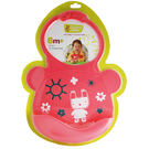 Creative Baby 創寶貝 可收納式攜帶防水無毒矽膠學習圍兜-乖巧小兔[衛立兒生活館]