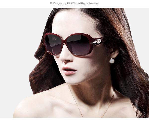 百變墨鏡 女時尚優雅偏光駕駛太陽眼鏡 水鑽時尚墨鏡 預購7天+現貨