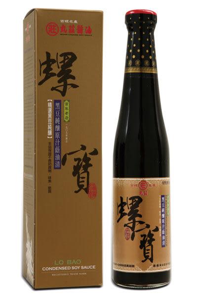 丸莊黑豆螺寶蔭油清420ml(非基因改造)