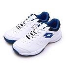 LIKA夢 LOTTO 全地形入門級網球鞋 SPACE 600系列 附贈橘色鞋帶 白藍 2236 男