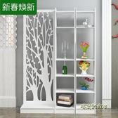 屏風隔斷裝飾客廳簡約現代小戶型臥室玄關櫃置物架辦公室雕花鏤空MBS「時尚彩虹屋」
