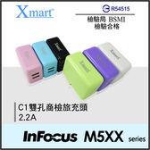 ◆Xmart C1 雙孔商檢2.2A USB旅充頭/充電器/鴻海 InFocus M510/M511/M518/M510T/M530/M535/M550