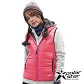 PolarStar 女 鋪棉雙面保暖背心『橘粉紅』P18212 戶外 休閒 登山 露營 保暖 禦寒 防風 連帽