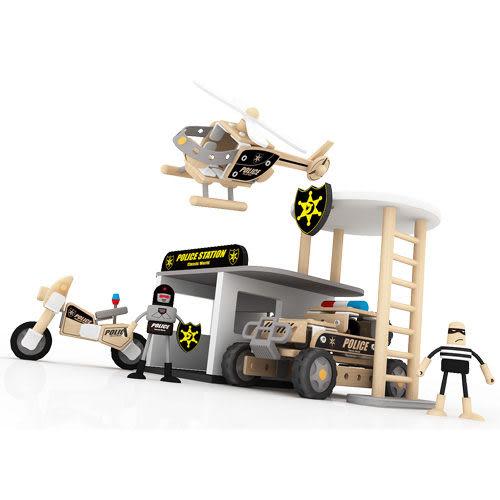classic world 德國經典木玩客來喜 DABA-城市警察局 木製益智玩具