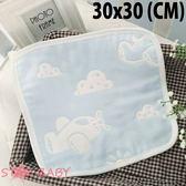 STAR BABY-日本訂單款 柔軟六層紗布 小方巾 口水巾 兒童手帕