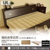 INPHIC 床頭箱床底床頭櫃5 尺三件式床組胡桃雙人房間組單人床床架床頭片床台床架_g7vf