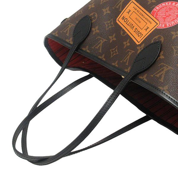 LOUIS VUITTON 路易威登 原花肩背購物袋 Neverfull MM World Tour M42844 BRAND OFF