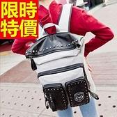 後背包-時尚雙肩多用途大容量男女帆布包5色59d13[巴黎精品]