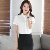 2018新款商務正裝套裝裙職業裝短袖白襯衫女LJ3267『夢幻家居』