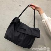 尼龍包2020側背包男女休閒尼龍港風簡約大容量旅行斜背包 coco