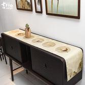 吉祥家 禪意桌旗茶幾餐桌桌布[采蓮]布藝餐墊隔熱墊新中式床尾巾 歐韓時代