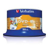 ◆免運費◆Verbatim 威寶 AZO 16X DVD-R 4.7GB 珍珠白滿版可印片(50片布丁桶X2) 100PCS
