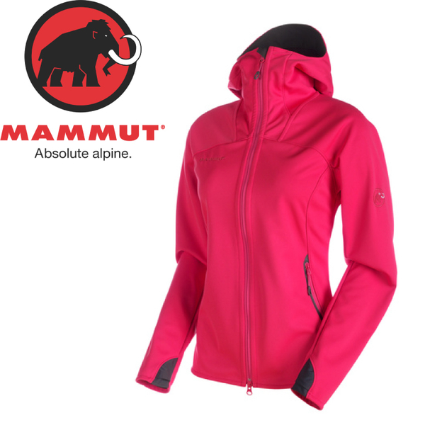 【MAMMUT 長毛象 女款 Ultimate連帽防風外套WINDSTOPPER《洋紅》】14931/防水/雙色背襯/歐洲製造