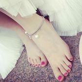 簡約清新女款鈴鐺森系腳鍊女士復古韓國學生腳環個性百搭腳鐲