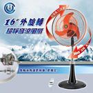 ◤工業扇第一推薦◢ 【中央興】16吋360度外旋轉.UC-NS16.超靜音涼風扇