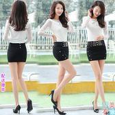 秋季打底緊身包臀裙一步裙半身裙布小包裙短裙女秋性感超短裙包群