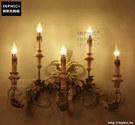 INPHIC- 美式壁燈樓梯過道燈歐式復古牆燈走廊木藝木頭蠟燭壁燈_S197C