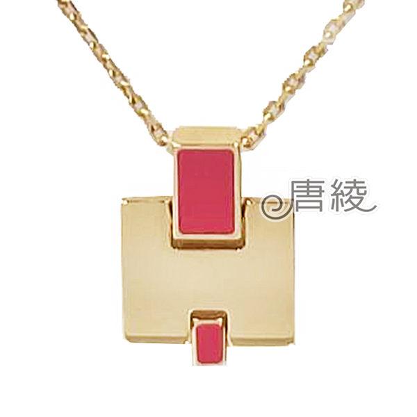 【Hermes 愛馬仕】Eileen 時尚配件經典H LOGO 銀飾項鍊(玫紅/玫金 H146201FO)