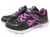『雙惠鞋櫃』◆DIADORA迪亞多那 ◆ 大童款 黑色風暴 童休閒運動鞋 ◆ (DA3827) 黑紫