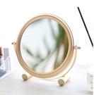 Moon化妝鏡梳妝鏡創意簡約鏡子北歐ins風颱式