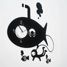 時鐘壁貼【海底漫遊-WD-138 】 藝術壁貼 無毒 無痕 防焰 防水 英國設計