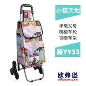 YY29買菜購物車 便攜拉桿車小拉車可摺疊 購物買菜車 WD 遇見生活