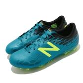 【六折特賣】New Balance 足球鞋 Visaro 2.0 Control FG JNR Wide 藍 綠 寬楦 女鞋 運動鞋 【ACS】 JSVCFMH2W
